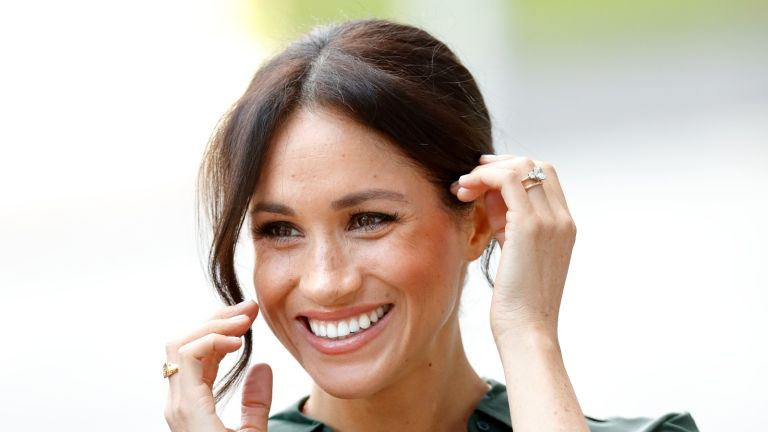 Meghan Markle has revealed she plans to give her daughter this expensive piece of jewelry some day. BOGNOR REGIS, UNITED KINGDOM - OCTOBER 03: (EMBARGOED FOR PUBLICATION IN UK NEWSPAPERS UNTIL 24 HOURS AFTER CREATE DATE AND TIME) Meghan, Duchess of Sussex visits the University of Chichester's Engineering and Technology Park on October 3, 2018 in Bognor Regis, England. The Duke and Duchess married on May 19th 2018 in Windsor and were conferred The Duke & Duchess of Sussex by The Queen. (Photo by Max Mumby/Indigo/Getty Images)