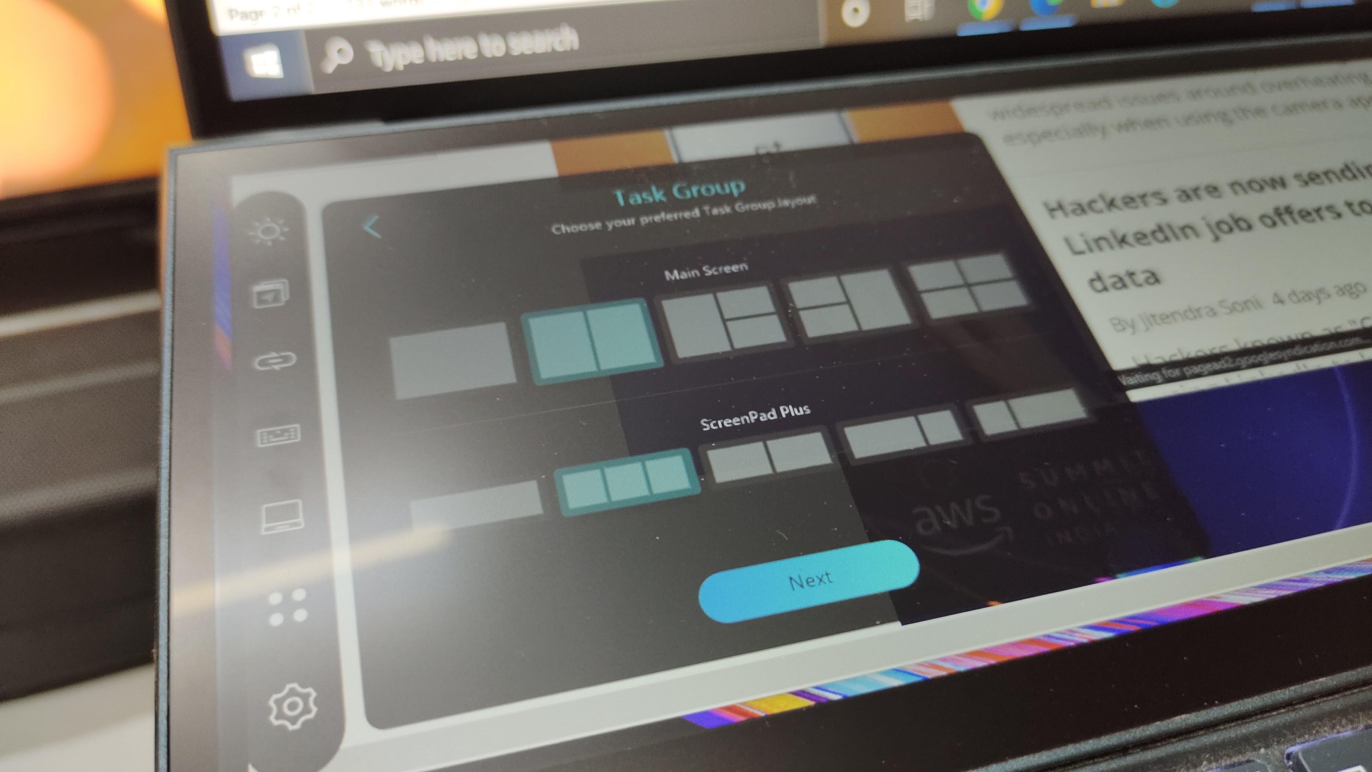 Asus ZenBook Duo UX482EG, ScreenPad +