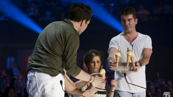 X Factor's judges enjoy some ice cream