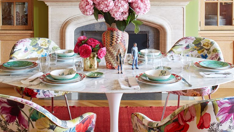dining table ideas table with floral chairs