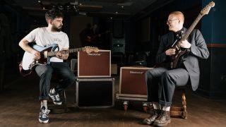 SPQR's Pete Harrison and Connor Dickson with Blackstar Studio 10 6L6 guitar amps