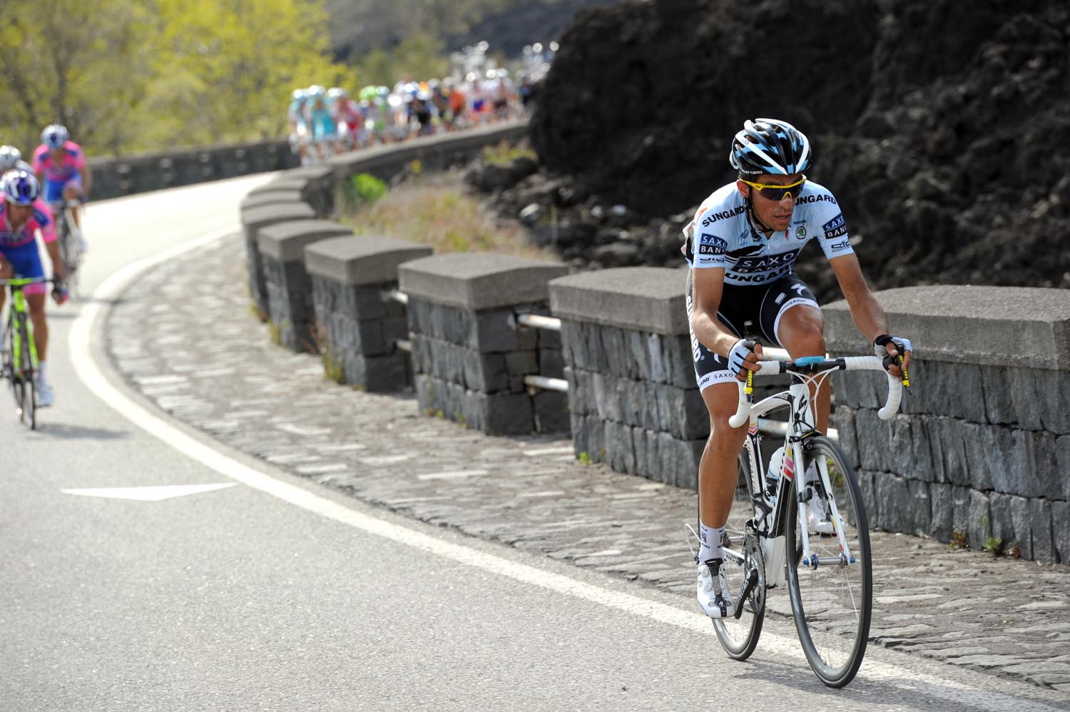 Alberto Contador attacks, Giro d