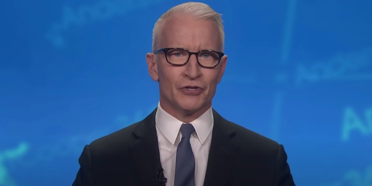 Anderson Cooper being interviewed on Jimmy Kimmel Live! (2021)
