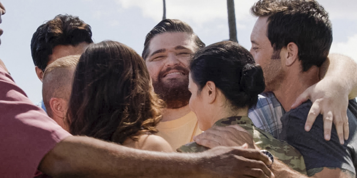 Hawaii Five-0 Season 10 premiere hug goodbye to Jorge Garcia as Jerry Ortega CBS