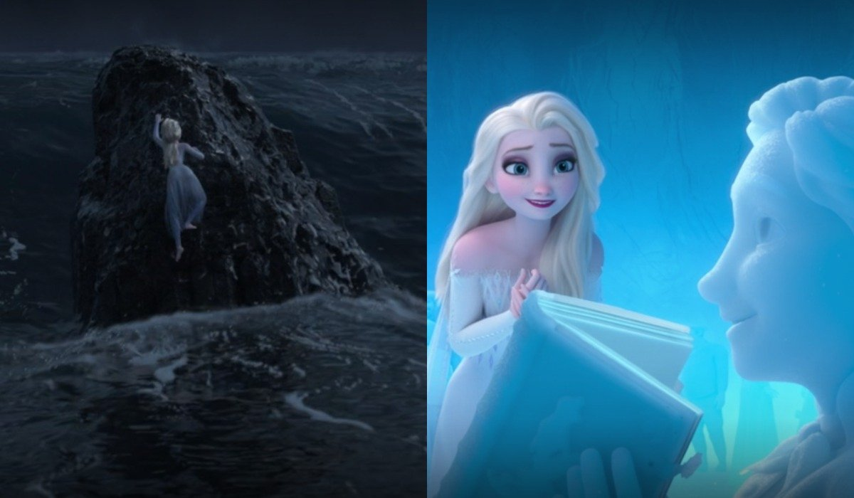 Elsa and The Little Mermaid easter eggs in Frozen 2