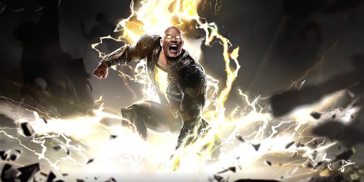 Mockup of The Rock as Black Adam