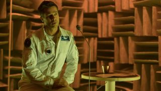 "In ""Ad Astra,"" Brad Pitt comes face-to-face with the psychological stress of both space travel and dealing with his relationship with his father."
