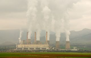 Electric power plant, greenhouse gases