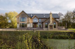 a self build constructed using natural insulation