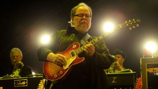 Walter Becker of Steely Dan performs live