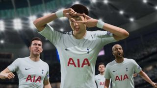 fifa 22 release date - players celebrate to camera