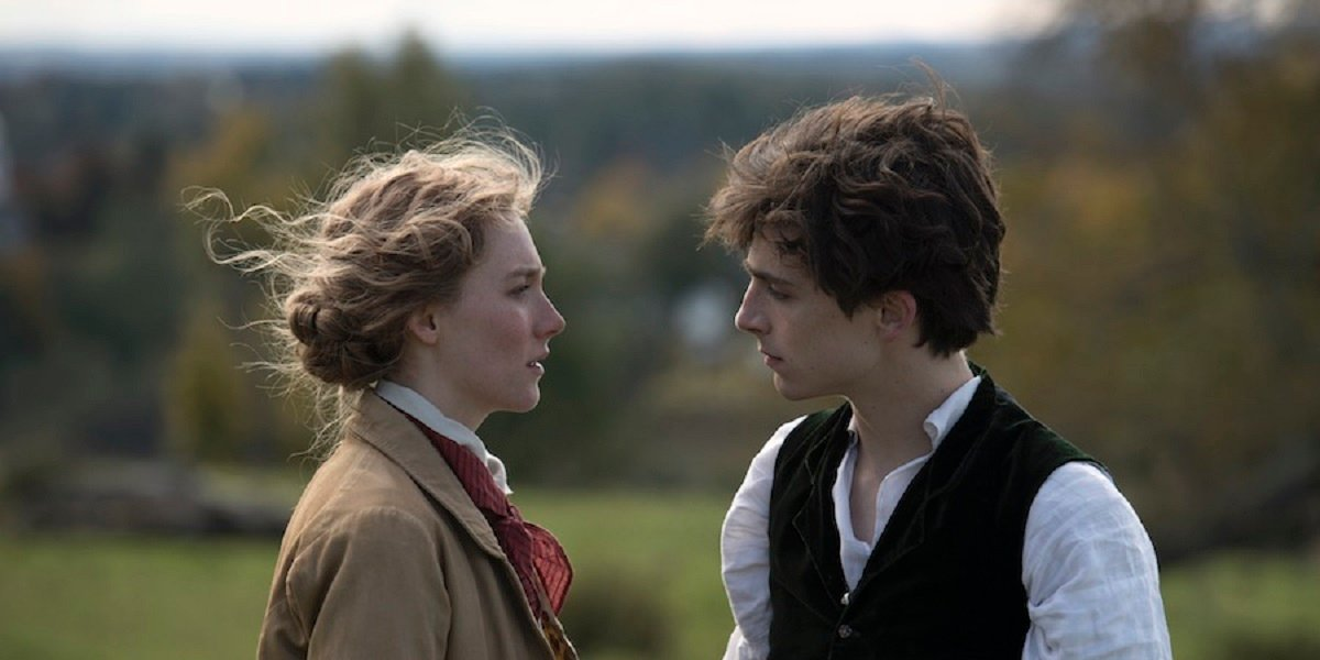 Saoirse Ronan and Timothee Chalamet in Little Women