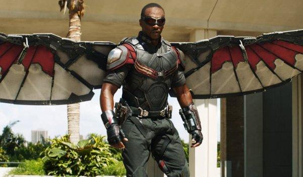 Captain America: Civil War Falcon with his wings spread