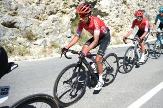 Colombias Nairo Quintana L of Team AkeaSamsic rides during the Mont Ventoux Denivele Challenge on August 6 2020 at the Mont Ventoux southern France Mont Ventoux Denivele Challenge is a 182 kms one day race from VaisonLaRomaine to Mont Ventoux with nearly 4000 meters of ascending elevation Photo by Sylvain THOMAS AFP Photo by SYLVAIN THOMASAFP via Getty Images