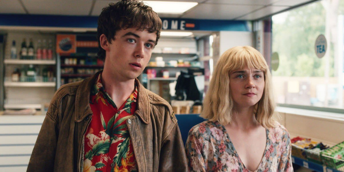 Jessica Barden and Alex Lawther in The End of The F'ing World