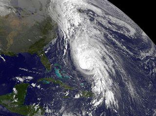 Hurricane Rafael satellite image