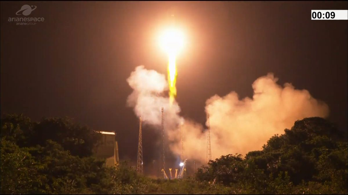Ariane 5 rocket launches UAE's FalconEye 2 Earth-observation satellite into orbit