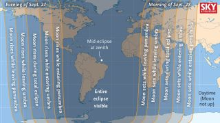 Visibility of Sept. 27, 2015, Lunar Eclipse