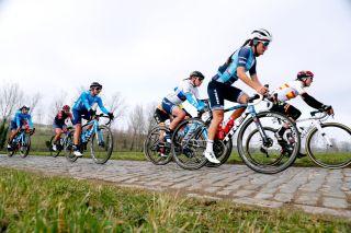 Lizzie Deignan (Trek-Segafredo) at Omloop Het Nieuwsblad 2021