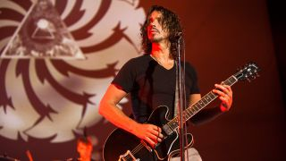 Chris Cornell of Soundgarden performs on stage at Brixton Academy on September 18, 2013 in London, England