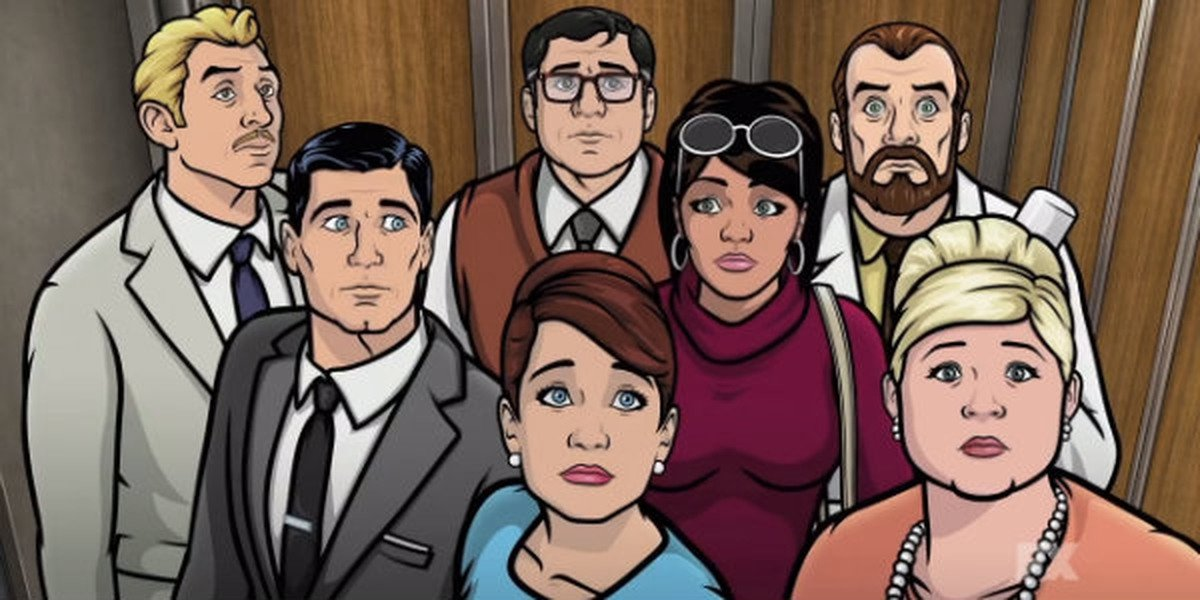 Some of the main cast of Archer.
