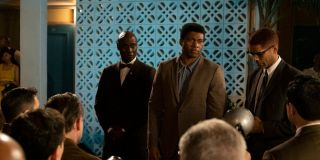 Eli Goree as Cassius Clay and Kingsley Ben-Adir as Malcolm X in One Night In Miami