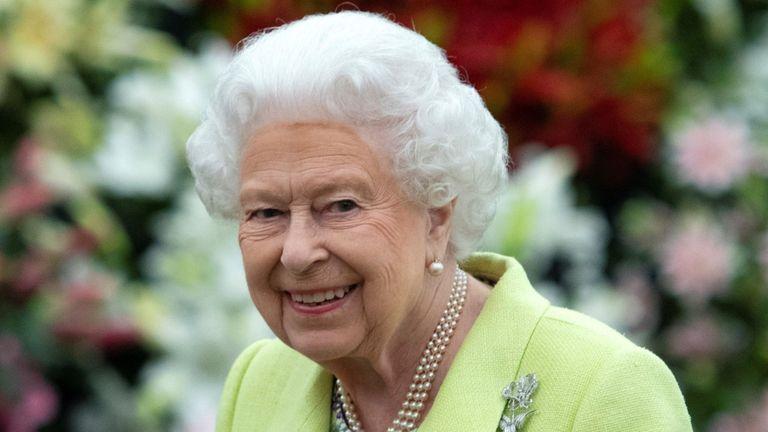 Queen Elizabeth II visits the 2019 RHS Chelsea Flower Show in London