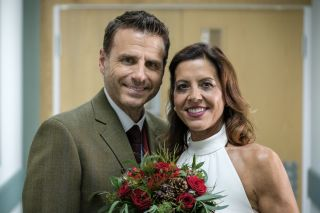 Casualty Rosa and David's wedding. But will they actually tie the knot?