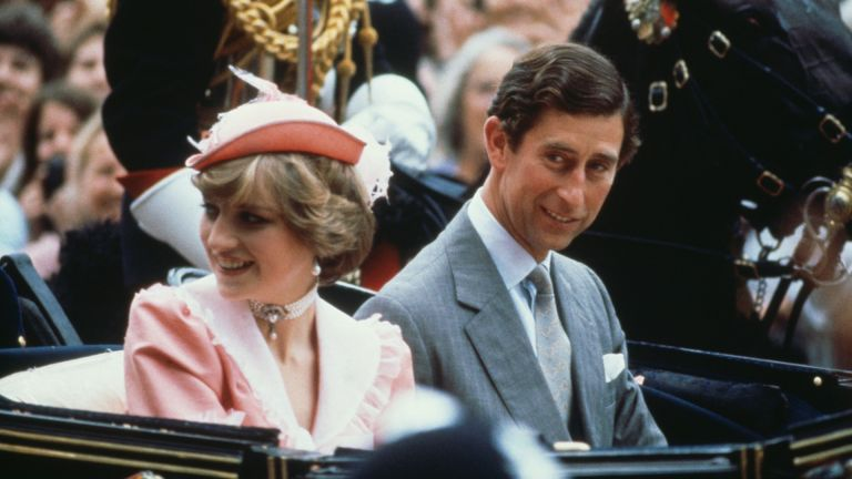 Princess Diana and Prince Charles leave Buckingham Palace for their honeymoon after their wedding, London, 29th July 1981
