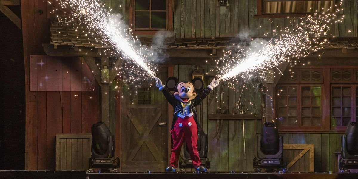 Mickey Mouse in Fantasmic at Disneyland