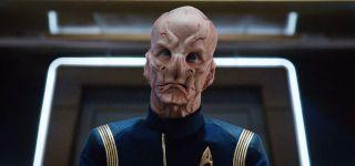 "Doug Jones as Captain Saru in a scene from ""Star Trek: Discovery."""