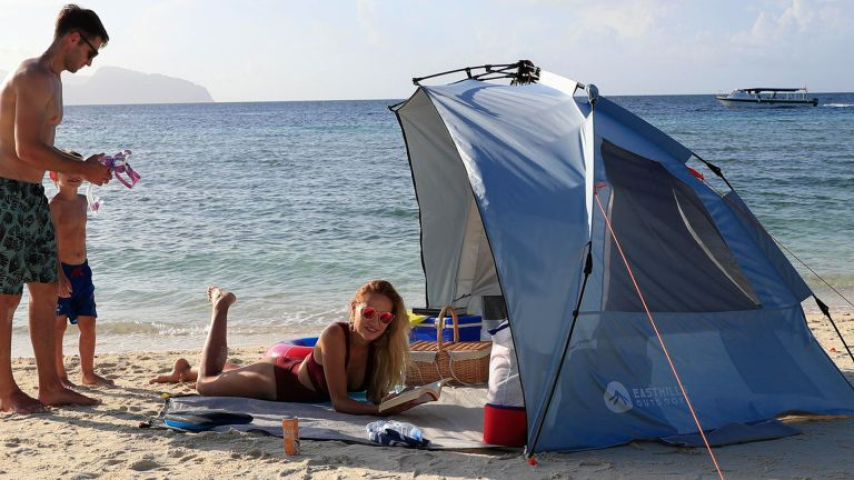 best beach tent: Easthills Outdoors Easy Up Beach Tent