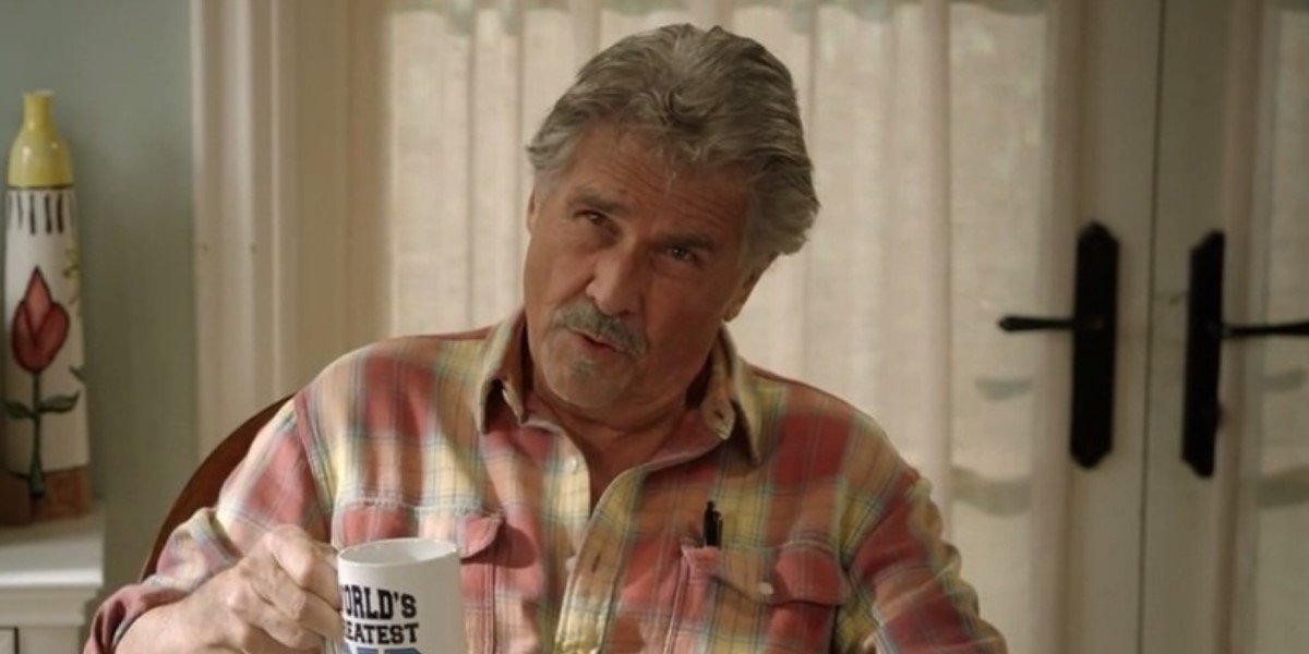 james brolin holding world's greatest dad mug on life in pieces