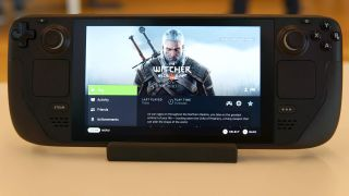 Valve Steam Deck running Witcher 3
