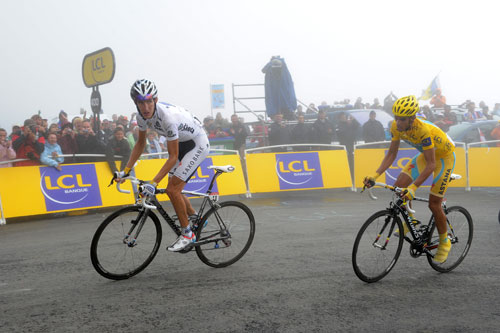 Andy Schleck and Alberto Contador, stage 17, Andy Jones at the Tour de France 2010