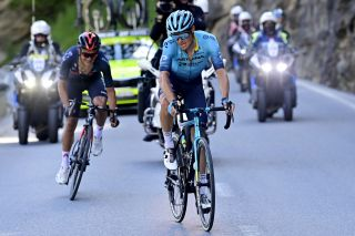 Jakob Fuglsang on the attack in the Tour de Suisse