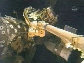 Space Station Crew Clears Port for New Module