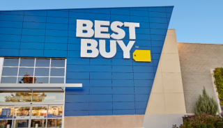 A Best Buy storefront.