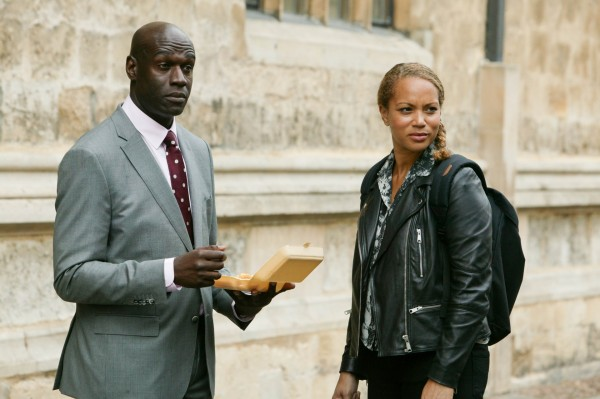 Angela Griffin and Steve Toussaint in Lewis