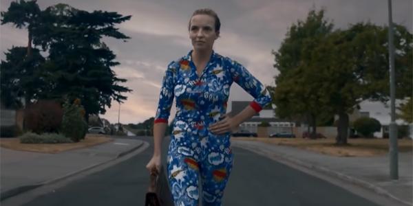 Villanelle in pajamas in Killing Eve