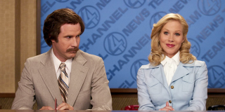 Ron and Veronica in Anchorman