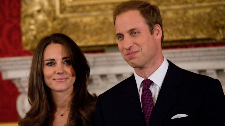 Prince William and Kate Middleton officially announce their engagement at St James's Palace on November 16, 2010 in London, England
