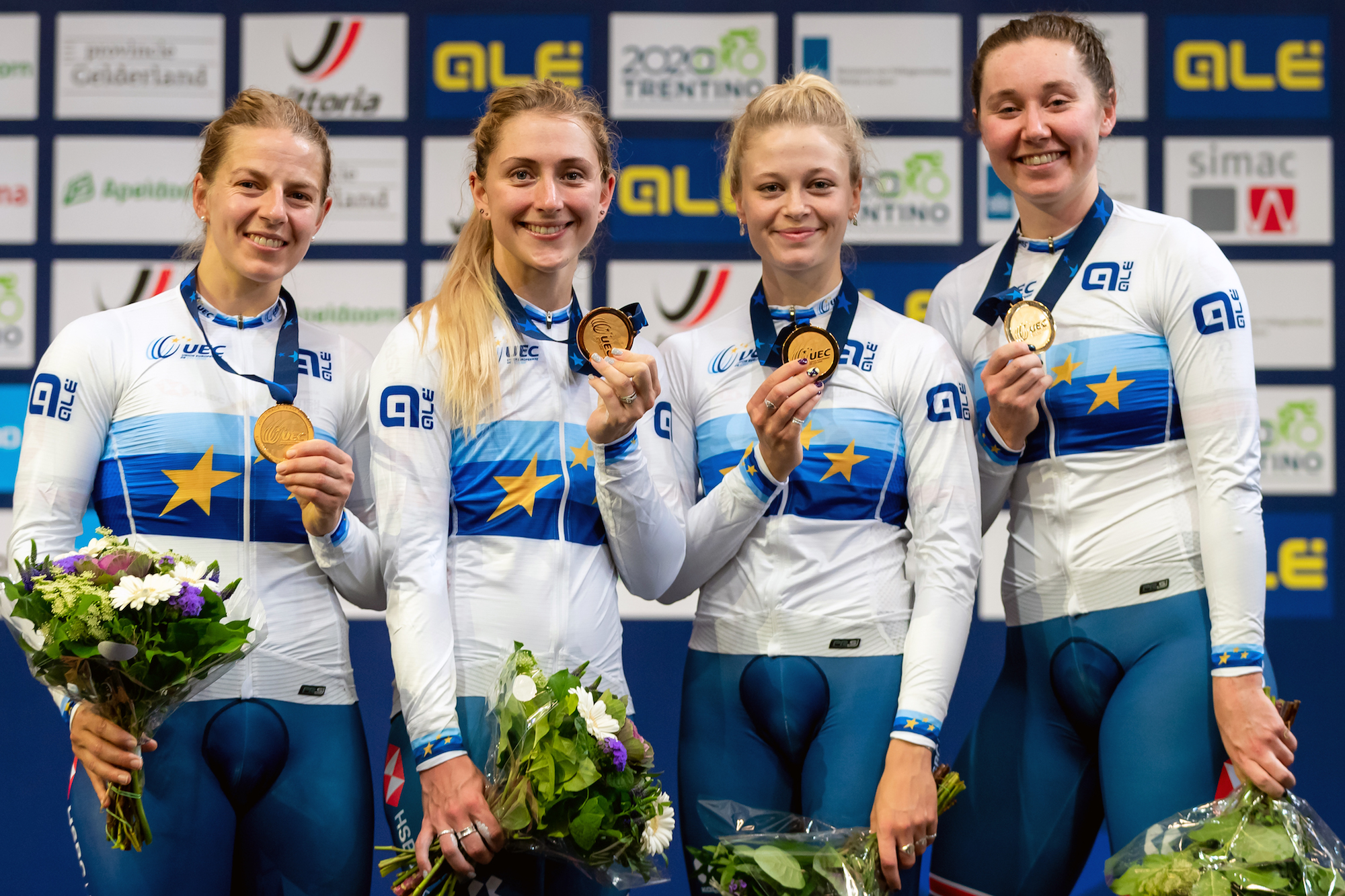 Britain strike gold again in women's team pursuit at UEC European Track Championships 2019