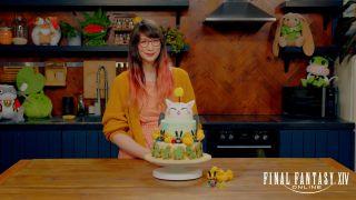Kim-Joy with her Final Fantasy cake