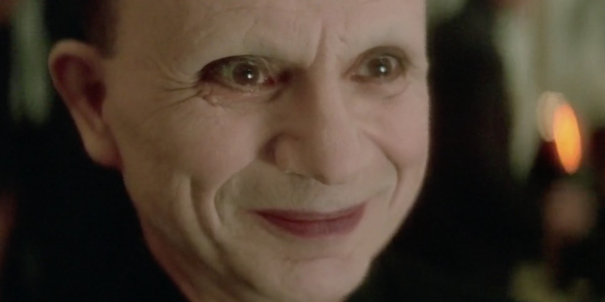 Robert Blake without eyebrows