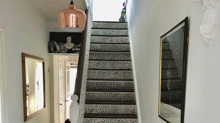 leopard print hallway