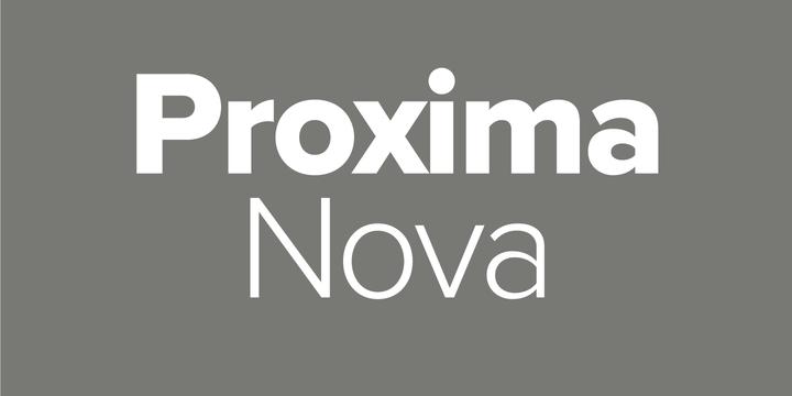Proxima Nova sans serif font sample