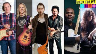 Paul Gilbert, Steve Lukather, Marty Friedman, Kirk Fletcher, Steve Morse and Michael Landau