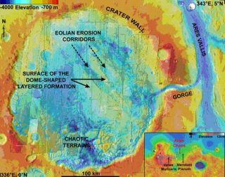 Mars Orbiter Spies Rust Deposits