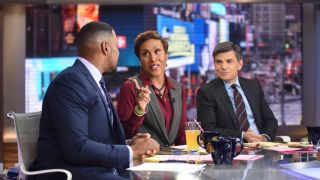 George Stephanopoulos (right) and Robin Roberts will both guest host 'Jeopardy!' this summer.